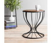 Onlineshoppee Wooden & Wrought Iron Table