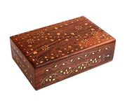 Wooden Handicraft  Box With Brass Inaly