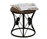 Onlineshoppee Wood & Iron Home Decor Design Table Size(LxBxH-13x13x13) Inch