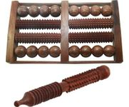 Onlineshoppee Wooden Foot Roller 8 slot (With Free Jimmy) Massager