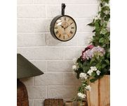 Onlineshoppee Wall Hanging Vintage Style Station Clock Double Sided  Size(LxBxH-9x6.5x11) Inch