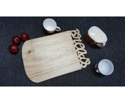 Onlineshoppee Pine  Wood Best Quality Handmade Design Kitchen Chopping Board  Size(LxBxH-15x10x1) Inch