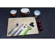 Onlineshoppee Pine  Wood Best Quality Fancy Design Kitchen Chopping Board  Size(LxBxH-15x10x1) Inch