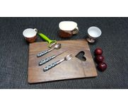 Onlineshoppee Sheesam  Wood Best Quality Beautiful Design Kitchen Chopping Board  Size(LxBxH-15x10x1) Inch