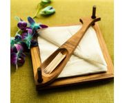 Onlineshoppee Wooden Beautiful Design 2 Compartments Wooden Napkin Holder Size(7.5 x7.5 x3.1) Inch