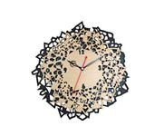 Onlineshoppee Wood Engraved Wall Clock