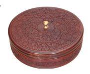 Onlineshoppee Wooden Kitchen Ware Chapati Box Size (LxBxH-11x11x3) Inch