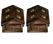 Onlineshoppee Traditional Coaster Set  Hut With Antique Design Pack Of 2