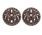 Onlineshoppee Wooden Antique  Key Holder Pack Of 2