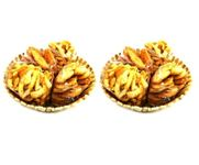 Onlineshoppee Wooden Holi Special Snacks and Fruit Basket,Pack Of 2