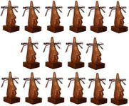 Family Pack of 16 Pc Handmade Wooden Nose Shaped Specs Stand Spectacle Holder