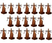 Family Pack of 19 Pc Handmade Wooden Nose Shaped Specs Stand Spectacle Holder