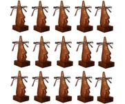 Family Pack of 15 Pc Handmade Wooden Nose Shaped Specs Stand Spectacle Holder