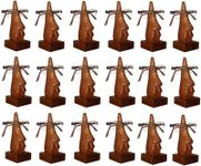 Family Pack of 18 Pc Handmade Wooden Nose Shaped Specs Stand Spectacle Holder