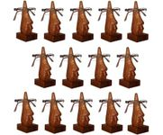 Family Pack of 14 Pc Handmade Wooden Nose Shaped Specs Stand Spectacle Holder