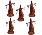 Family Pack of 5 Pc Handmade Wooden Nose Shaped Specs Stand Spectacle Holder