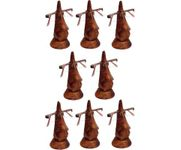 Family Pack of 8 Pc Handmade Wooden Nose Shaped Specs Stand Spectacle Holder