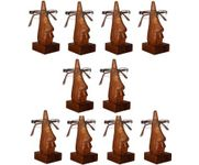 Family Pack of 10 Pc Handmade Wooden Nose Shaped Specs Stand Spectacle Holder