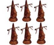 Family Pack of 6 Pc Handmade Wooden Nose Shaped Specs Stand Spectacle Holder