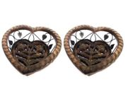 Onlineshoppee  Wooden & Iron Hand Made Beauiful Decorative Fruit & Vegetable Basket,Pack Of 2