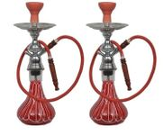 Onlineshoppee 30 inch Glass Hookah Color-Red,Pack Of 2