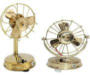 Onlineshoppee Brass Toy Fan Showpiece Figurine,Combo Showpiece