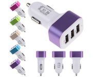 Onlineshoppee  TX013 DC12V 1000mA Universal Triple USB Socket Charger for iPhone 4G/3GS