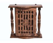 Onlineshoppee Wooden Antique Wall Hanging Box Key Holder Size(LxBxH-10x3.5x10) Inch