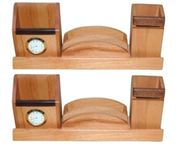 Wooden  Pen and Card,Mobile  holder With Watch,Pack Of 2