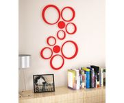 Onlineshoppee Set of 10 Wooden Circles Stickers Showpiece
