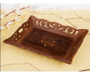 Onlineshoppee  Wooden Handicrafts Designed Tray Large Size Sise(LxBxH-15x10) Inch