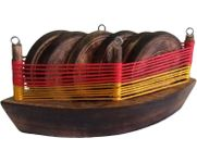 Onlineshoppee Wooden Stylish Boat Tea Coasters Home Decor 6 Pcs