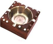 OnlineShoppee Wooden Premium Quality Antique Ashtray
