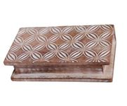 Onlineshoppee Wooden Antique Rusted Look Jewellery Box with Hand Carving Design