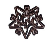 Onlineshoppee Wooden Key Holder In Star Shape With Handicraft Design