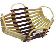 Onlineshoppee Wooden Bamboo Fruit & Vegetable Basket With Handle