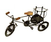 Wooden & Iron Rikshaw Bottle Stand