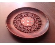 Wooden Hand Carved Pooja Thali