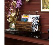 Onlineshoppee Magazine Stand (Basker Strip) (Black) Home Decor Item