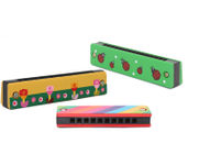 Onlineshoppee Wooden Harmonica Musical Instrument Mouth Organ