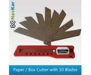 Heavy Duty Paper / Box Cutter Knife with High Quality 10 Blades 18MM Blades