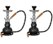 Onlineshoppee Gelato 14 inch Glass Hookah,Coal Pack And Flavor,Pack Of 2