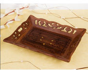 Wooden Carved Serving Tray Size(LxB-10X8) Inch