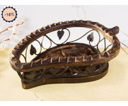Wooden Handcrafted Fruit Basket