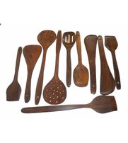 Wooden Spoon Set 1 Frying, 2 Serving, 2 Spatula, 3 Chapati Spoon, 2 Desert