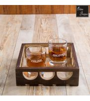 Onlineshoppee Fancy Design Solid Wood Carved Tray
