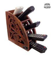 Onlineshoppee Wooden Handmade Remote Holder Multipurpose Storage Stand