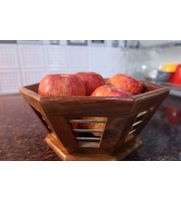 Onlineshoppee Rose Wood Tableware Fruit Basket Tray