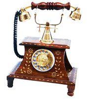 Antique Vintage Maharaja Style Brass Phone