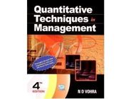 Quantitative Techniques in Management | N D Vohra